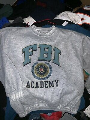 Vintage FBI ACADEMY Crew Neck Sweat Shirt XL