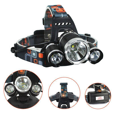 12000LM 3 x XML CREE T6 LED Lampe frontale rechargeable lampe frontale BK2X