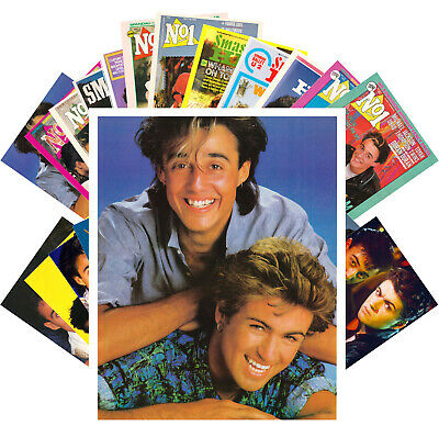 WHAM GEORGE MICHAEL Postcards (24 cards) Vintage Music Photo Poster Cover 1289