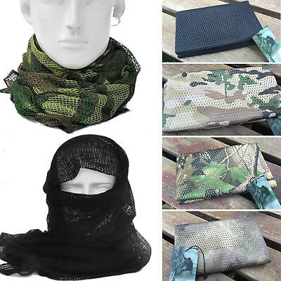 TACTICAL SORGO NETTING Military Scrim Net Scarf Face Veil