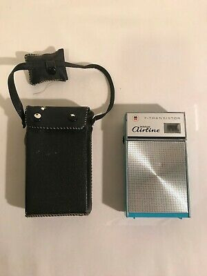 Vinatge Wards Airline 7- Transistor Radio -1158A - Turquoise - Japan Works Well!