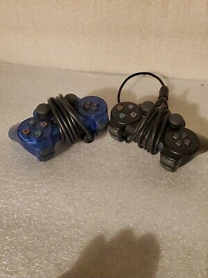 Lot of Playstation 2 PS2 Official OEM Sony 2 Controllers GOOD CONDITION