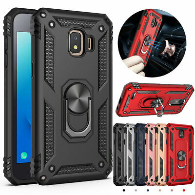 For Samsung Galaxy J2 Shine/J2 Pure/J2 Dash Military Armor Stand Ring Case Cover