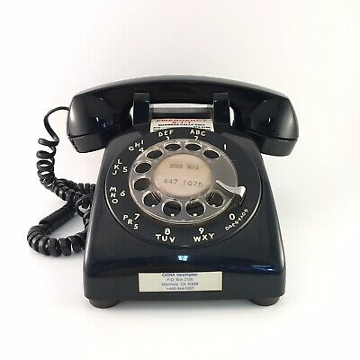 Western Electric Vintage Rotary Dial Desk Telephone Black Model DM 500