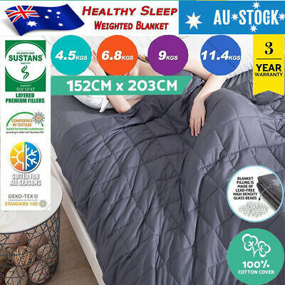 4.5/7/9/11KG Cotton Bedding Weighted Blanket Heavy Gravity Deep Relax Sleeping