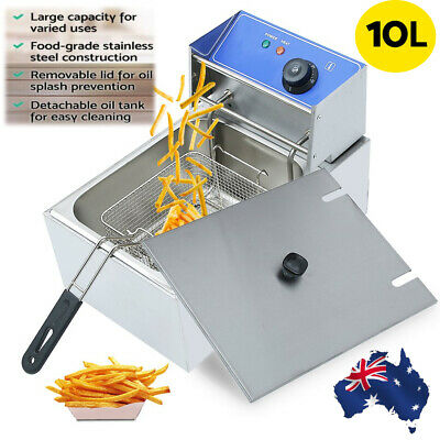 10L Commercial Electric Deep Fryer Single Frying Basket Fry Chicken Chip HU