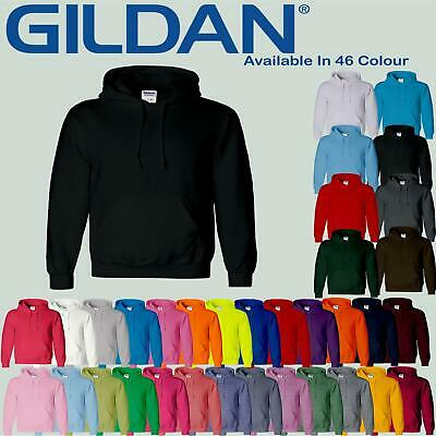 Gildan Heavy Blend Mens Plain Hoodie SweatShirt Hooded Unisex Hoody Top