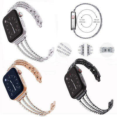 Stainless Steel For Apple Watch 5432 40/44mm Band Belt for Women Metal iWatch