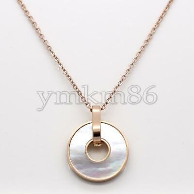 Stainless Steel Jewelry Necklace White Shell Extender Chain Oval Chain 1.96lnch