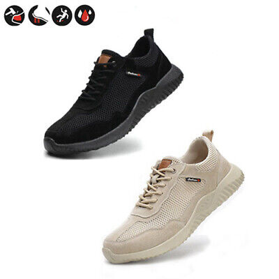New Safety Shoes for Men Women Steel Toe Trainers Lightweight Sports Work Shoes