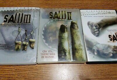 Saw 1 2 3 collection triology trio dvd (2004,2005,2006)