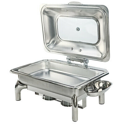 NEW Commercial Chafing Dish Catering Container Buffet Food Warmer Rolltop 9L Pan