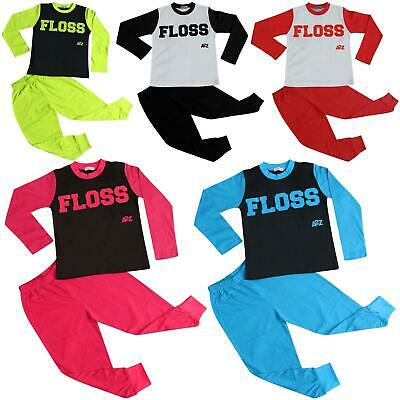 Kids Girls Boys Pyjamas Floss A2Z Fashion Loungewear Night Wear Pajamas Pjs Sets