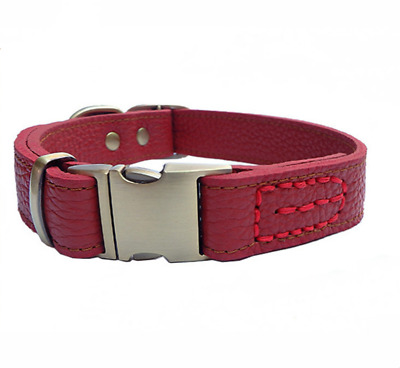 100% Genuine Leather Designer Dog Collar By Coca Strong Soft Suede Blue Red Pink