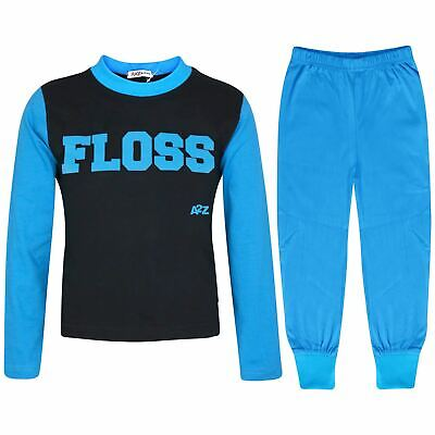 Kids Girls Boys Pyjamas Floss A2Z Blue Fashion Night Loungewear PJS Outfit Sets