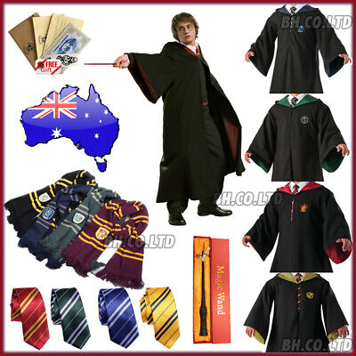 Harry Potter Gryffindor Robe Halloween Scarf LED Wand Cosplay Costume Kids