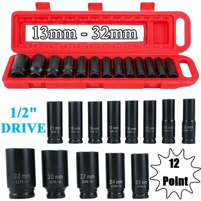 "13pc 12Point DEEP IMPACT Socket Set 1/2"" Drive Long Reach Impact Sockets CG"