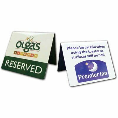 Printed Table Tent Signs. Reception Sign. Reserved Sign. Buffet Tent Signs. Sign