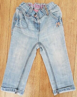 NEXT Girl's Denim light blue Jeans with Adjustable Waist 18-24 months Kids Baby