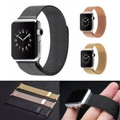 【Apple watch】Series 5 4 3 2 1 Milanese Magnetic Stainless Loop Strap iWatch Band