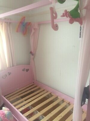 mia pink childs four poster bed