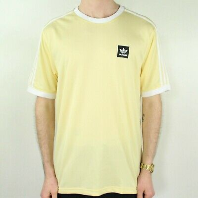 Adidas Club Jersey T-Shirt – Yellow/White In Sizes S,XL