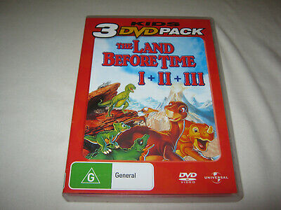 The Land Before Time - 1 + 2 + 3 - Like New DVD - R4