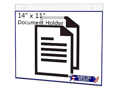 "Sign Holder Ad Frame 14""W x 11""H Horizontal Wall Mount with Mounting Holes"
