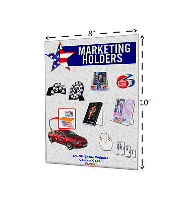 "8""W x 10""H Sign Holder Wall Ad Flyer Photo Frame With Holes Clear Acrylic Qty 6"