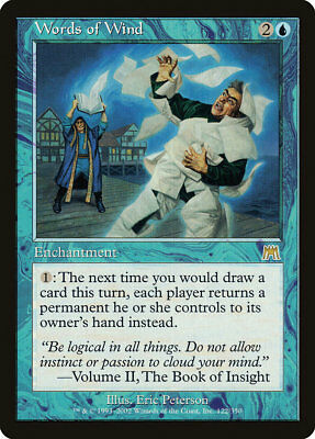 MTG - Words of Wind - Onslaught - X1 - (MP) - FREE SHIPPING