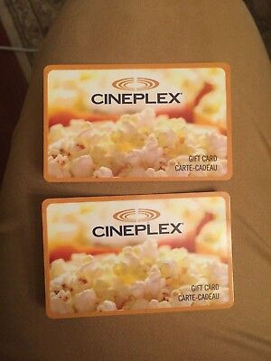 Two (2) $30 Cineplex Cards - $60 Total