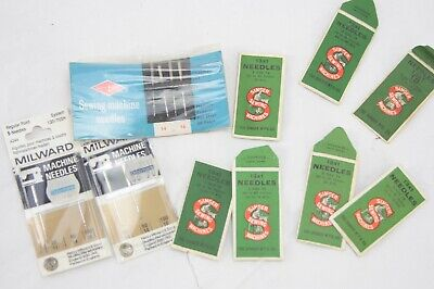 SINGER and other vintage sewing machine needles, part packs