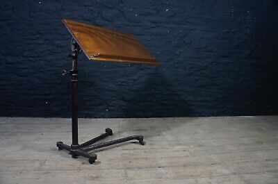 Vintage Carters Reading / Over Bed Table ~ Adjustable Wood Metal Display Stand