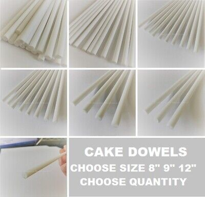 CAKE DOWELLING Dowel Rods Support Tiered Cakes Wedding Sugarcraft DOWELS