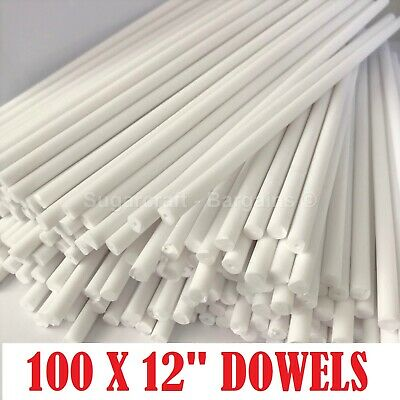 "100 x 12"" Long CAKE DOWELLING Rods Support Tiered Cakes Sugarcraft DOWELS DOWELS"
