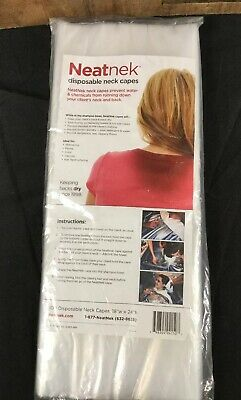 "Neatnek Disposable Neck Capes 18""W X 24""H One Pkg / 100 Pcs"