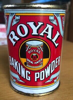 Vintage Royal Baking Powder Tin Collectable Kitchenalia