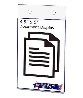 "Ad Frame Sign Holder 3.5""W x 5""H Vertical Wall Mount with Mounting Holes"