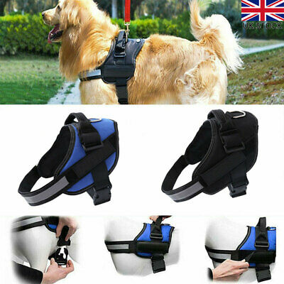 Strong Dog Harness Outdoor Adventure Pet Vest Padded with Handle Small/Medium UK