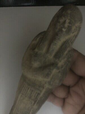 Large Rare Ancient Egyptian Faience Shabti  (945-715 BC.)