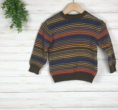 Baby Gap Boys' Toddler Striped Sweater sz 4 years long sleeve multicolor soft