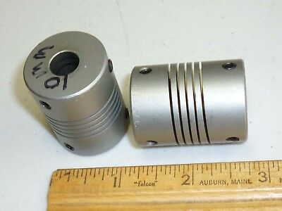HELICAL Style Flex Motor Coupling, 10MM Shafts, Stainless Steel? USED USA SALE!
