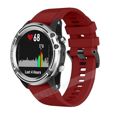 Red Quick Release Silicone Wrist Watch Band Strap For Garmin Fenix 3 HR 5X Plus