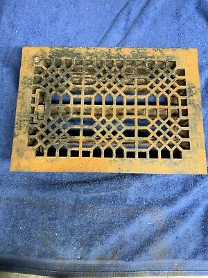 Antique Cast Iron Floor Grate Heating Vent Register Tuttle & Bailey Pat.1886
