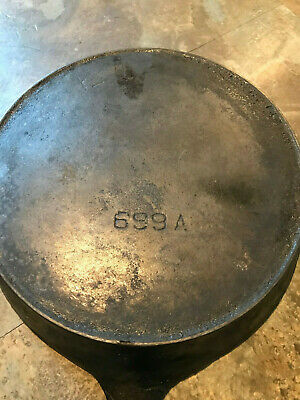 "Pre-Griswold Erie #6 Cast Iron Heat Ring Skillet Mold 699A ""hard To Find"""
