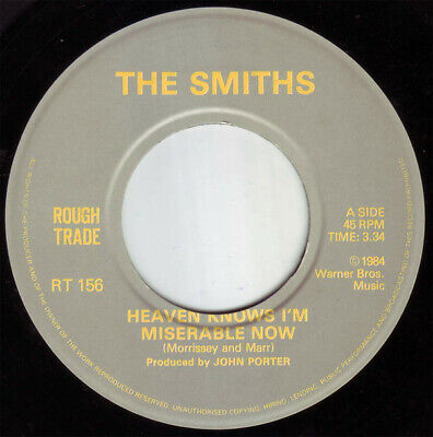 """The Smiths – Heaven Knows I'm Miserable Now  Vinyl 7"""" Single RT156"""