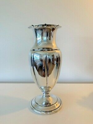 Antique Sterling Silver Vase Centerpiece Large Contemporary Style
