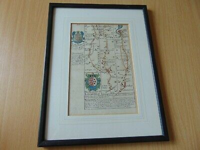 SCARCE ANTIQUE 18th CENTURY MORDEN MAP CHESTER CHESHIRE STAFFORD NANTWICH