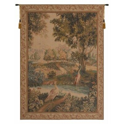 Verdure Aux Oiseaux Chateau Palace Country with Birds Woven Tapestry Wall Art