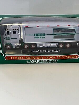 2013 HESS MINIATURE TRUCK AND RACERS ~ New in Box